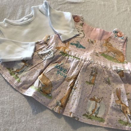 0-3 Month Nut Brown Hare Dress and Body